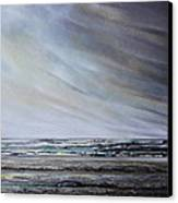 Storm Over Hauxley Haven Northumberland 1 Canvas Print by Mike   Bell