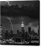 Storm Over Nyc  Canvas Print by Jerry Fornarotto