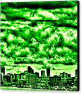 Storm Over The Emerald City Canvas Print by David Patterson
