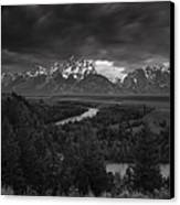 Storm Over The Tetons Canvas Print by Andrew Soundarajan