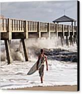 Storm Surfer Canvas Print