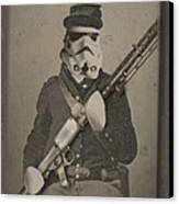 Storm Trooper Star Wars Antique Photo Canvas Print by Tony Rubino