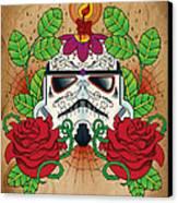 Storm Trooper Sugar Skull Canvas Print