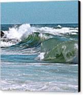 Stormy Lagune - Blue Seascape Canvas Print