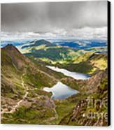 Stormy Skies Over Snowdonia Canvas Print by Jane Rix