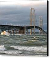 Stormy Straits Of Mackinac Canvas Print