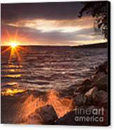Stormy Sunrise Canvas Print by Michele Steffey