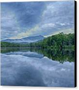 Stormy Sunrise Over Price Lake - Blue Ridge Parkway I Canvas Print by Dan Carmichael