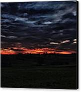 Stormy Sunset Canvas Print by Miguel Winterpacht