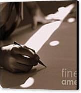 Story Of Light And Shadows Canvas Print by Vishakha Bhagat