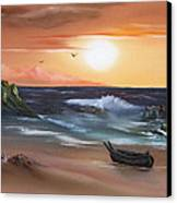Stranded At Sunset Canvas Print by Cynthia Adams