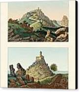 Strange Abbeys In Portugal Canvas Print by Splendid Art Prints