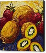 Strawberries And Kiwis Canvas Print