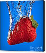 Strawberry Slam Dunk Canvas Print by Susan Candelario