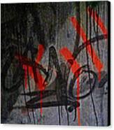 Street Conversation Canvas Print