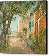 Street In Provincetown Canvas Print by  Childe Hassam