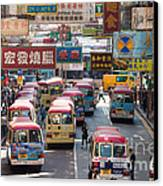 Street Scene In Hong Kong Canvas Print by Matteo Colombo