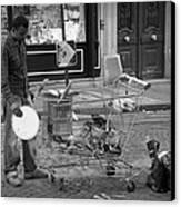 Street Vendor Canvas Print by Chevy Fleet