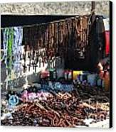 Street Vendor Selling Rosaries Canvas Print