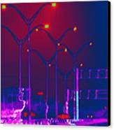 Streetlight Serenade 1 Canvas Print by Wendy J St Christopher