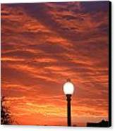 Streetlight Sunset Texas Canvas Print