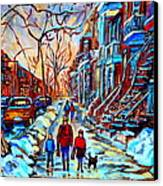 Streets Of Montreal Canvas Print