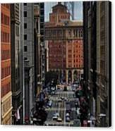 Streets Of San Fran Canvas Print by Benjamin Yeager