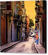 Streets Of San Juan Canvas Print by Karen Wiles