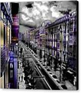 Streetwise In Spain Canvas Print by Cary Shapiro