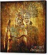 Stripped Of His Garments Via Dolorosa 10 Canvas Print by Lianne Schneider