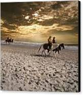 Strolling Horses Canvas Print by Nelson Watkins