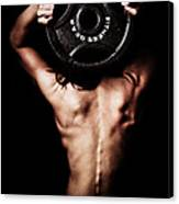 Strong Back And Arms Canvas Print by Jt PhotoDesign