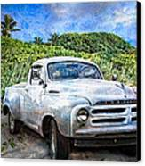 Studebaker Goes To The Beach Canvas Print