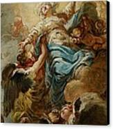 Study For The Assumption Of The Virgin Canvas Print by Jean Baptiste Deshays de Colleville