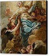 Study For The Assumption Of The Virgin Canvas Print by Jean Baptiste Deshays de Colleville