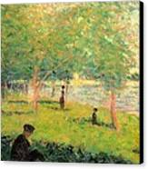 Study On La Grande Jatte Canvas Print