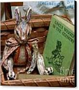 Stuffed Rabbit And Uncle Wiggly Book Canvas Print by Amy Cicconi