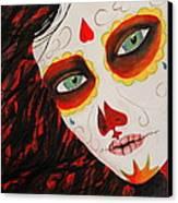 Sugar Skull Canvas Print by Kip Krause