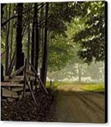 Sugarbush Road Canvas Print by Michael Swanson