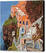 sul mare Greco Canvas Print by Guido Borelli