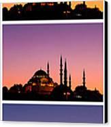 Suleymaniye Sundown Triptych 03 Canvas Print