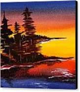Sumi-e Blue Skies Canvas Print