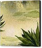 Sumi-e Water Lilies Canvas Print by Diane Ferron