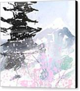 sumie No.10 Pagoda and Mt.Fuji Canvas Print by Sumiyo Toribe