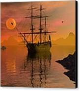 Summer Anchorage Canvas Print by Claude McCoy