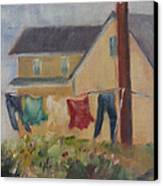 Summer Breeze Canvas Print by Debbie Lamey-MacDonald