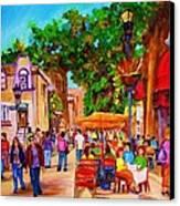 Summer Cafes Canvas Print by Carole Spandau
