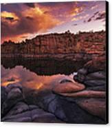 Summer Dells Sunset Canvas Print