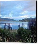 Summer Evening At Lake Osoyoos Canvas Print by Margaret McDermott