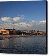 Summer Evenings In Santa Cruz Canvas Print by Laurie Search